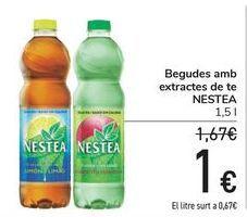 Oferta de Bebidas son extractos de té NESTEA  por 1€