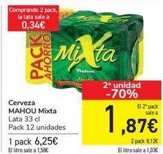 Oferta de Cerveza MAHOU mixta  por 6,25€