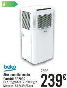 Oferta de Aire acondicionado Portátil BP209C Beko  por 239€
