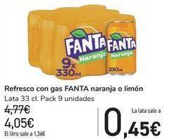 Oferta de Refresco con gas FANTA Naranja o limón  por 4,05€