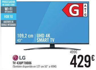 Oferta de LG TV 43UP78006  por 429€