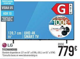 Oferta de LG TV55NANO806  por 779€