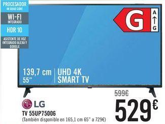 Oferta de LG TV 55UP75006 por 529€