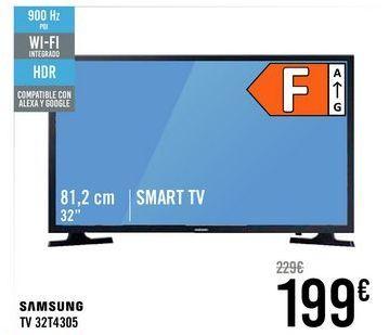Oferta de SAMSUNG TV 32T4305  por 199€