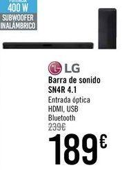 Oferta de Barra de sonido SN4R 4.1 LG  por 189€