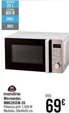 Oferta de Microondas MMG20SSM-20 Mandine  por 69€