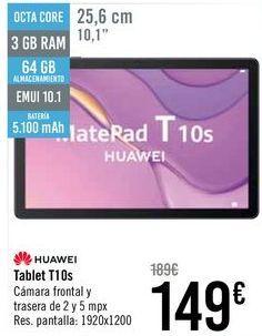 Oferta de HUAWEI Tablet T10s por 149€