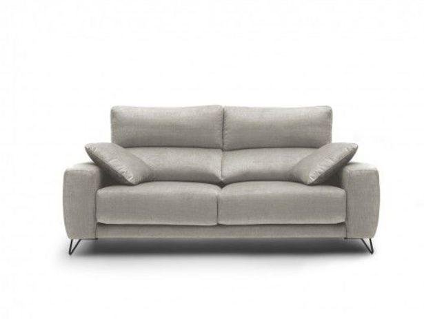 Oferta de Sofá 3p con asientos deslizantes tapizado beige por 858€