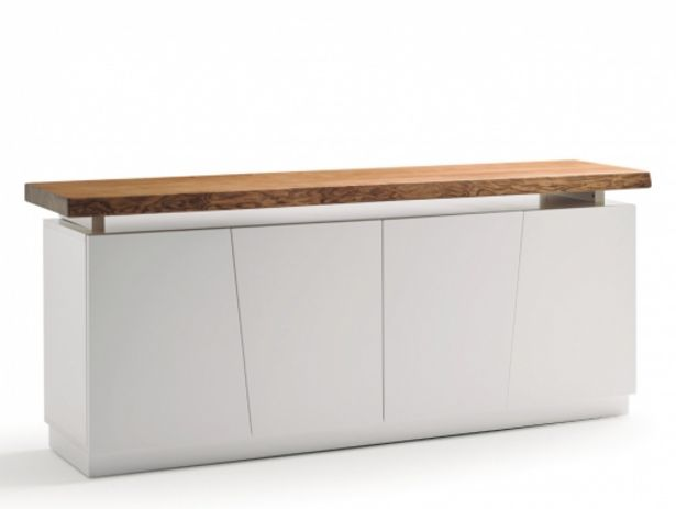 Oferta de Aparador de 4 puertas color blanco con tapa de madera maciza de fresno por 1365€