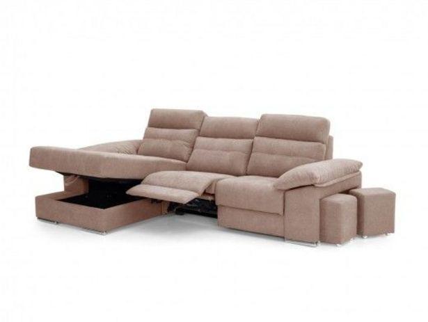 Oferta de Chaise longue eléctrica tapizado beige por 1489€