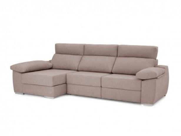 Oferta de Chaise longue con asientos deslizantes tapizado beige por 1152€