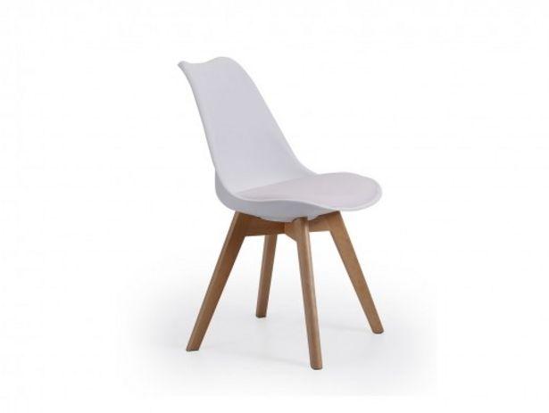 Oferta de Pack 4 sillas nórdicas color blanco por 215€