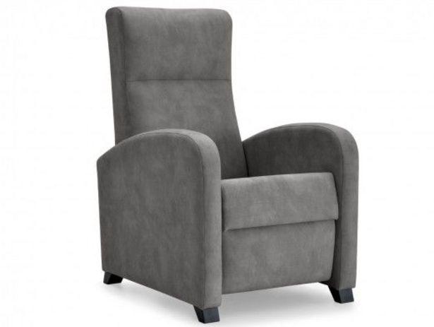 Oferta de Sillón relax tapizado color gris por 345€