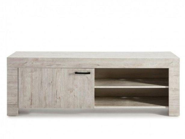 Oferta de Mueble TV de 1 puerta color madera claro por 237€