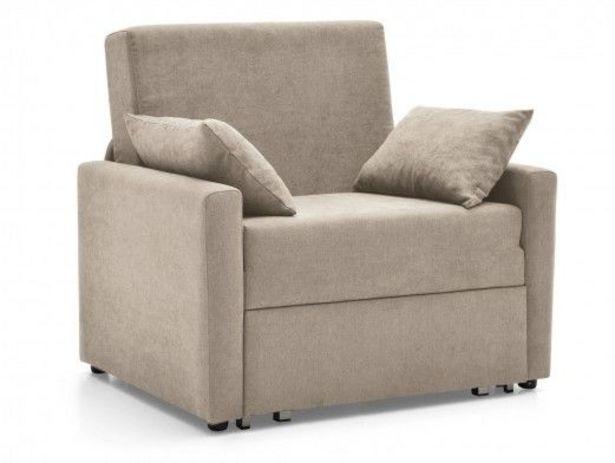 Oferta de Sillón cama sistema de apertura extensible tapizado beige por 534€