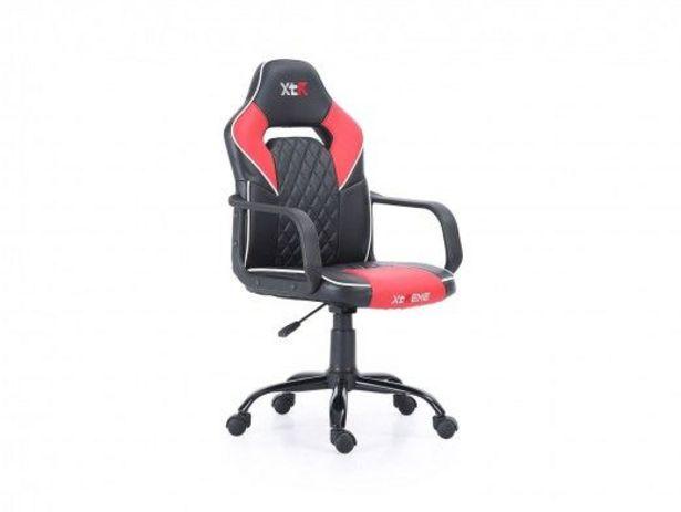 Oferta de Silla gaming giratoria y altura regulable negro - rojo por 100€