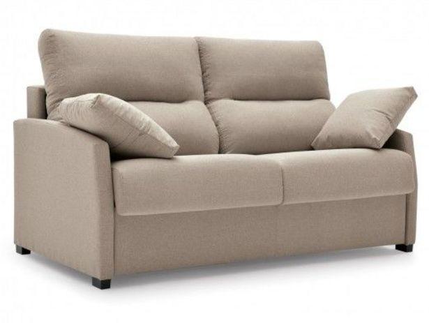 Oferta de Sofá cama sistema de apertura italiano tapizado beige por 933€