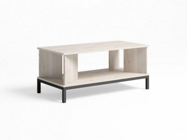 Oferta de Mesa de centro rectangular  y patas color blanco nordic-grafito por 105€