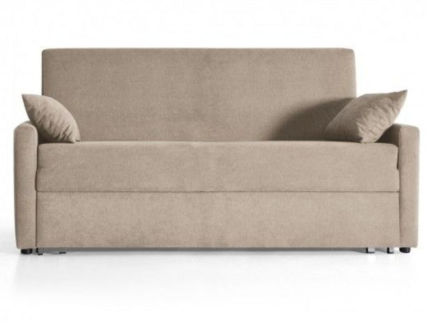 Oferta de Sofá cama sistema de apertura extensible tapizado beige por 628€