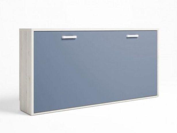Oferta de Cama abatible horizontal color blanco nordic-azul talco por 530€
