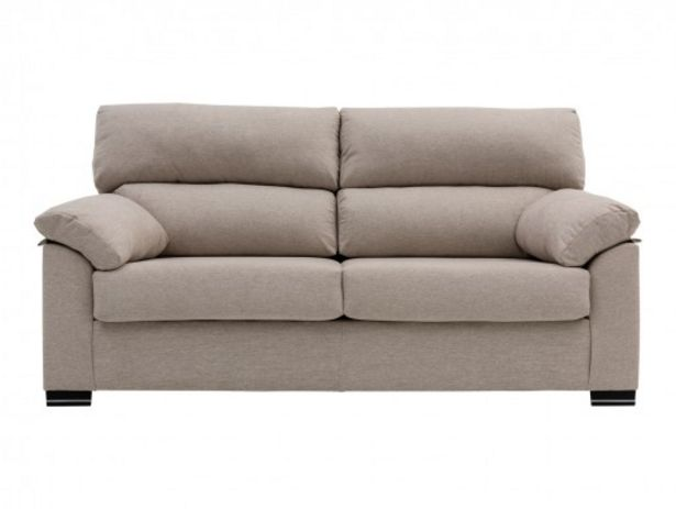 Oferta de Sofá de 3 plazas tapizado beige por 356€