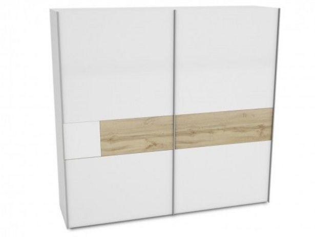 Oferta de Armario 2 puertas correderas color blanco y roble por 711€
