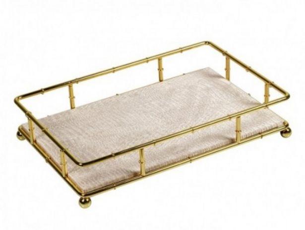 Oferta de Bandeja decoración oro por 35€