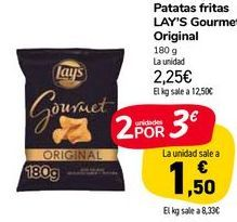 Oferta de Patatas fritas Lay's Gourmet Original por 2,25€