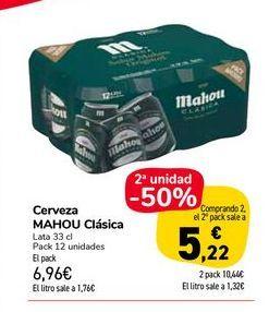 Oferta de Cerveza Mahou clasica por 6,96€