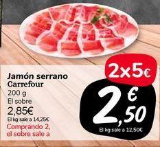 Oferta de Jamón serrano carrefour por 2,85€