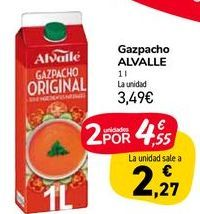 Oferta de Gazpacho Alvalle 1L por 3,49€