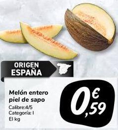 Oferta de Melón entero piel de sapo por 0,59€