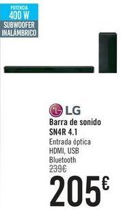 Oferta de Barra de sonido SN4R 4.1 LG  por 205€