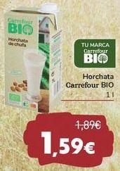 Oferta de Horchata Carrefour BIO por 1,59€