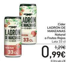 Oferta de Cider LADRÓN DE MANZANAS Natural o Frutos Rojos  por 0,99€