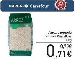 Oferta de Arroz categoría primera Carrefour por 0,71€