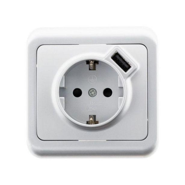 Oferta de BASE DE ENCHUFE CON USB ANTARIA por 19,95€