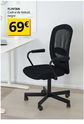 Oferta de Silla de oficina negra FLINTAN por 69€