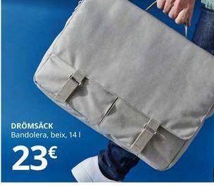 Oferta de Bandolera para tablet beige 14 l DROMSACK por 23€