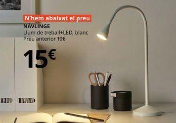 Oferta de Lámpara de trabajo + LED, blanca NAVLINGE por 15€