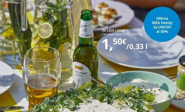 Oferta de Cerveza rubia 4.7%, 330 ml por 1,5€