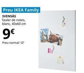 Oferta de Tablero de anuncios blanco, 40 x 60 cm SVENSAS por 9€