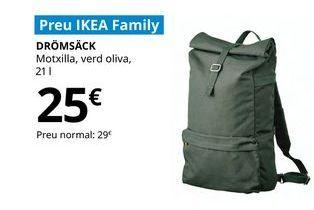 Oferta de Mochila verde oliva DROMSACK  21 1 por 25€