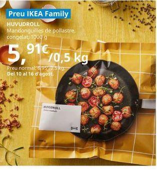 Oferta de Albóndigas de pollo congeladas, 1000 g por 5,91€