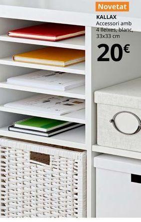 Oferta de Accesorio con 4 estantes blanco 33 x 33  por 20€