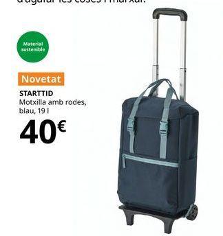 Oferta de Mochila con ruedas azul 19 l STARTTID por 40€
