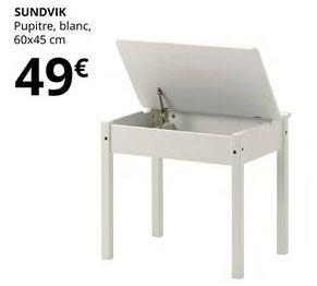Oferta de Pupitre blanco Sundvik 60 x 45 cm por 49€