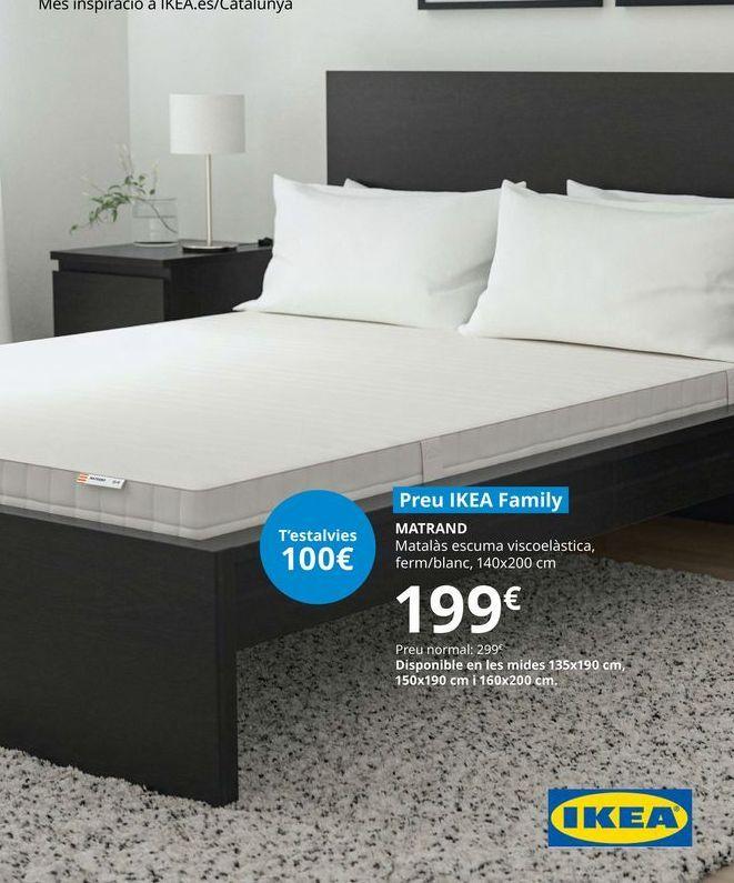 Oferta de Matrand colchón espuma viscoelástica, firme/blanco, 140 x 200 cm por 199€
