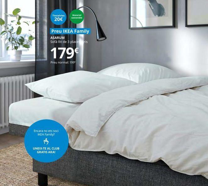 Oferta de Sofá cama de 3  plazas ASARUM  por 179€