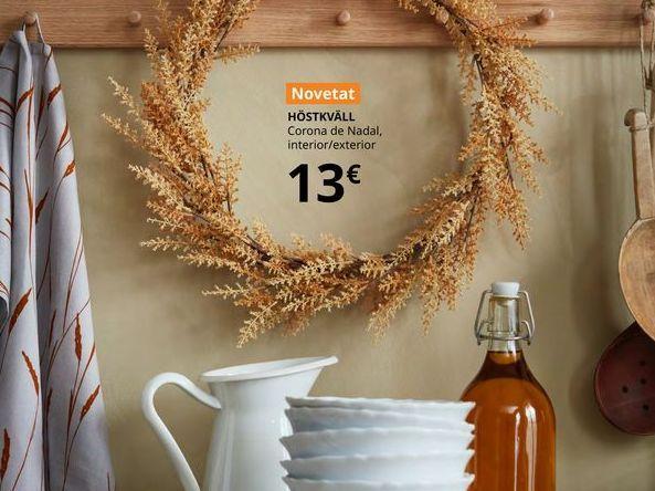 Oferta de Corona de Navidad, interior/exterior HOSTKVALL por 13€